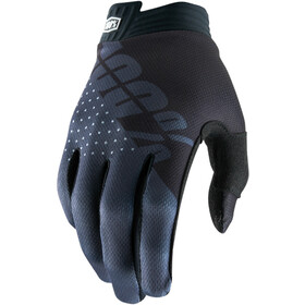 100% iTrack Gloves Black/Charcoal
